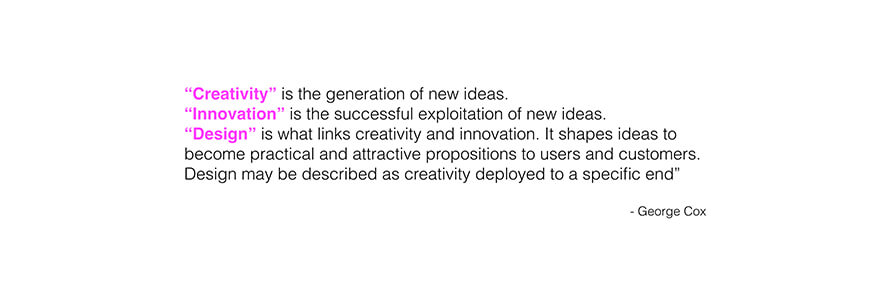 Creativity, Innovation, Design (George Cox)