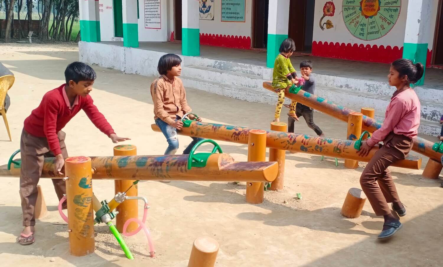 Sheffield Hallam researchers install first of its kind energy harnessing playground in India